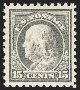 Sale Number 1180, Lot Number 348, 1912-15 Washington-Franklin Issues (Scott 405-461)15c Gray (437), 15c Gray (437)