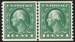 Sale Number 1180, Lot Number 349, 1912-15 Washington-Franklin Issues (Scott 405-461)1c Green, Coil (443), 1c Green, Coil (443)