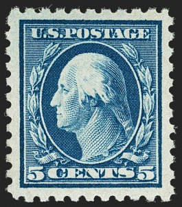 Sale Number 1180, Lot Number 360, 1916-17 Issues (Scott 462-480)5c Blue (466), 5c Blue (466)