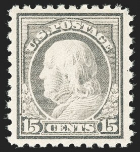 Sale Number 1180, Lot Number 365, 1916-17 Issues (Scott 462-480)15c Gray (475), 15c Gray (475)