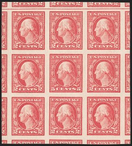Sale Number 1180, Lot Number 371, 1917-19 Issues (Scott 481-524)5c Carmine, Imperforate, Error (485), 5c Carmine, Imperforate, Error (485)