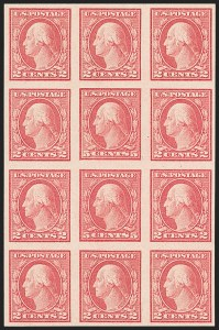 Sale Number 1180, Lot Number 372, 1917-19 Issues (Scott 481-524)5c Carmine, Imperforate, Error (485), 5c Carmine, Imperforate, Error (485)