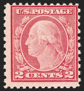 Sale Number 1180, Lot Number 385, 1918-20 Issues (Scott 525-550)2c Carmine Rose, Ty. II, Rotary Perf 11 x 10 (539), 2c Carmine Rose, Ty. II, Rotary Perf 11 x 10 (539)