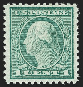Sale Number 1180, Lot Number 387, 1918-20 Issues (Scott 525-550)1c Green, Rotary (545), 1c Green, Rotary (545)