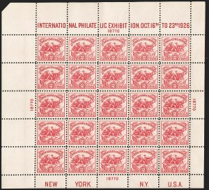Sale Number 1180, Lot Number 395, Rotary Waste Rarities and Later Issues (Scott 594, 596, 613)2c White Plains Souvenir Sheet (630), 2c White Plains Souvenir Sheet (630)