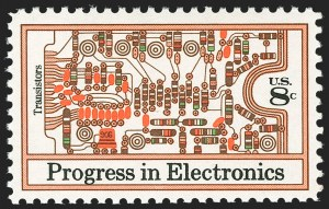 Sale Number 1180, Lot Number 399, Modern Errors8c Progress in Electronics, Tan (Background) and Lilac Omitted (1501b), 8c Progress in Electronics, Tan (Background) and Lilac Omitted (1501b)