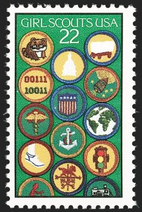 Sale Number 1180, Lot Number 405, Modern Errors22c Girl Scouts, Red and Black Engraved Omitted (2251b), 22c Girl Scouts, Red and Black Engraved Omitted (2251b)