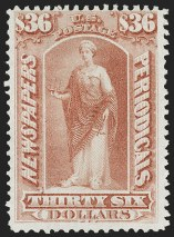 Sale Number 1180, Lot Number 450, $36.00 Brown Rose, 1875 Special Printing (PR54)