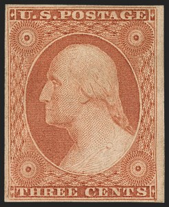 Sale Number 1180, Lot Number 50, 1851-56 Issue (Scott 5-17)3c Orange Brown, Ty. II (10A), 3c Orange Brown, Ty. II (10A)