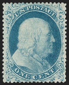 Sale Number 1180, Lot Number 62, 1857-60 Issue (Scott 18-39)1c Blue, Ty. I (18), 1c Blue, Ty. I (18)