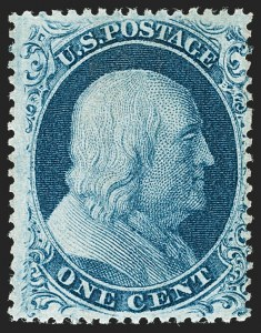 Sale Number 1180, Lot Number 67, 1857-60 Issue (Scott 18-39)1c Blue, Ty. III (21), 1c Blue, Ty. III (21)