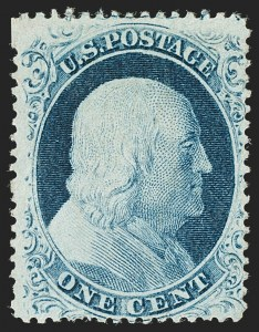 Sale Number 1180, Lot Number 69, 1857-60 Issue (Scott 18-39)1c Blue, Ty. IV (23), 1c Blue, Ty. IV (23)