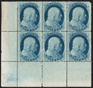 Sale Number 1180, Lot Number 70, 1857-60 Issue (Scott 18-39)1c Blue, Ty. V (24), 1c Blue, Ty. V (24)