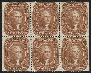 Sale Number 1180, Lot Number 78, 1857-60 Issue (Scott 18-39)5c Orange Brown, Ty. II (30), 5c Orange Brown, Ty. II (30)