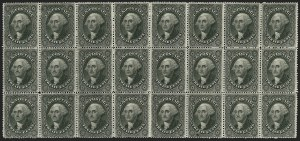 Sale Number 1180, Lot Number 86, 1857-60 Issue (Scott 18-39)12c Black, Plate 3 (36B), 12c Black, Plate 3 (36B)