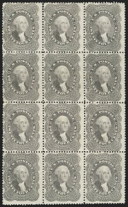 Sale Number 1180, Lot Number 87, 1857-60 Issue (Scott 18-39)24c Gray Lilac (37), 24c Gray Lilac (37)