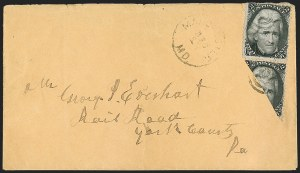 Sale Number 1181, Lot Number 1123, Biscect Uses2c Black, Diagonal Half Used as 1c (73a), 2c Black, Diagonal Half Used as 1c (73a)