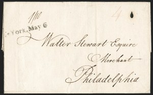 Sale Number 1182, Lot Number 161, Cover Group LotsStampless Covers, 1792-1840s, Stampless Covers, 1792-1840s