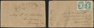 Sale Number 1182, Lot Number 239, Confederate and Civil War: Postmasters' Provisionals (Albany Ga. thru Houston Tex.)Galveston Tex., 10c Black entire (98XU2), Galveston Tex., 10c Black entire (98XU2)