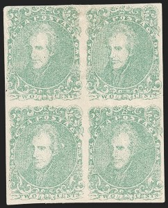 Sale Number 1182, Lot Number 305, Confederate and Civil War: General Issues Off-Cover (Scott 1-14)2c Green (3), 2c Green (3)