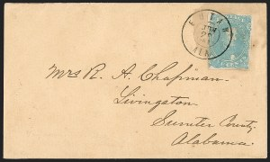 Sale Number 1182, Lot Number 383, Confederate and Civil War: General Issues On-Cover (Scott 4-5)5c Light Milky Blue, Stone 2 (4b), 5c Light Milky Blue, Stone 2 (4b)