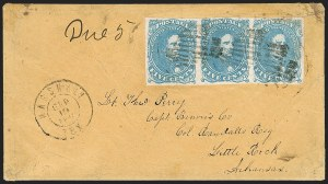 Sale Number 1182, Lot Number 388, Confederate and Civil War: General Issues On-Cover (Scott 4-5)5c Milky Blue, Stone 3 (4b), 5c Milky Blue, Stone 3 (4b)