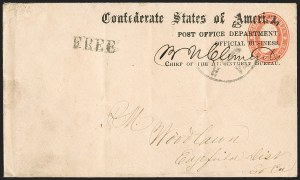 Sale Number 1182, Lot Number 497, Confederate and Civil War: Official Imprints (Post Office Dept.)Post Office Department, Official Business, Chief of the Appointment Bureau (APP-03a), Post Office Department, Official Business, Chief of the Appointment Bureau (APP-03a)