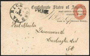 Sale Number 1182, Lot Number 504, Confederate and Civil War: Official Imprints (Post Office Dept.)Post Office Department, Official Business, Chief of the Contract Bureau (CON-06c), Post Office Department, Official Business, Chief of the Contract Bureau (CON-06c)