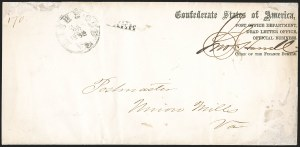 Sale Number 1182, Lot Number 510, Confederate and Civil War: Official Imprints (Post Office Dept.)Post Office Department, Dead Letter Office, Official Business, Chief of the Finance Bureau (DLO-02b), Post Office Department, Dead Letter Office, Official Business, Chief of the Finance Bureau (DLO-02b)