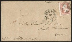 Sale Number 1182, Lot Number 628, Confederate and Civil War: Flag-of-Truce MailBalance of Charles Thompson Civil War and Post-War Correspondence, Balance of Charles Thompson Civil War and Post-War Correspondence