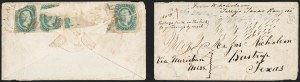 Sale Number 1182, Lot Number 644, Confederate and Civil War: Trans-Mississippi Express10c Greenish Blue, Die B (12c), 10c Greenish Blue, Die B (12c)