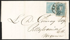Sale Number 1182, Lot Number 645, Confederate and Civil War: Trans-Mississippi Express5c Light Milky Blue, Stone 2 (4b), 5c Light Milky Blue, Stone 2 (4b)
