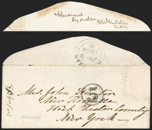 Sale Number 1182, Lot Number 648, Confederate and Civil War: Blockade-Run MailCharleston S.C. to New York, Blockade-Run, Charleston S.C. to New York, Blockade-Run