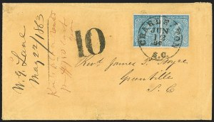 Sale Number 1182, Lot Number 658, Confederate and Civil War: Group Lots5c-10c Typographed and Engraved Issues, Cover Balance (6-7, 11-12), 5c-10c Typographed and Engraved Issues, Cover Balance (6-7, 11-12)