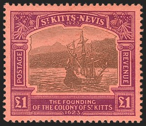 Sale Number 1183, Lot Number 1403, Rhodesia thru SarawakST. KITTS-NEVIS, 1923, -1/2p-£1 Tercentenary (52-64; SG 48-60), ST. KITTS-NEVIS, 1923, -1/2p-£1 Tercentenary (52-64; SG 48-60)