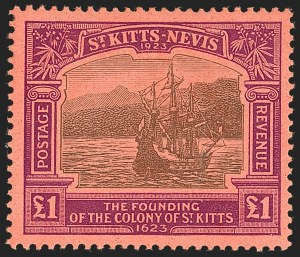 Sale Number 1183, Lot Number 1404, Rhodesia thru SarawakST. KITTS-NEVIS, 1923, -1/2p-£1 Tercentenary (52-64; SG 48-60), ST. KITTS-NEVIS, 1923, -1/2p-£1 Tercentenary (52-64; SG 48-60)