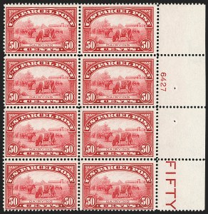 Sale Number 1185, Lot Number 102, Air Post, Back-of-Book Issues50c Parcel Post (Q10), 50c Parcel Post (Q10)