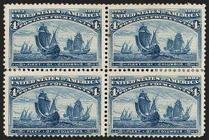 Sale Number 1185, Lot Number 68, Columbian Issue, 1894-98 Bureau Issue4c Columbian, Error of Color (233a), 4c Columbian, Error of Color (233a)