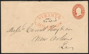 Sale Number 1186, Lot Number 513, Steamboat Mail-Independent and C.S.A. Use of U.S. StampsSteamer Genl. Quitman, Steamer Genl. Quitman
