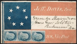 Sale Number 1186, Lot Number 524, Patriotics-Independent and Confederate State Use of U.S. StampsLexington Va, Lexington Va