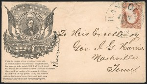 Sale Number 1186, Lot Number 526, Patriotics-Independent and Confederate State Use of U.S. StampsRandolph Ten. Jun. 25, (1861), Randolph Ten. Jun. 25, (1861)