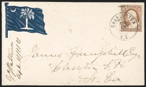 Sale Number 1186, Lot Number 531, Patriotics-Independent and Confederate State Use of U.S. StampsCharleston S.C. Apr. 18, 1861, Charleston S.C. Apr. 18, 1861