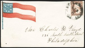 Sale Number 1186, Lot Number 534, Patriotics-Independent and Confederate State Use of U.S. Stamps3c Dull Red, Ty. III (26), 3c Dull Red, Ty. III (26)