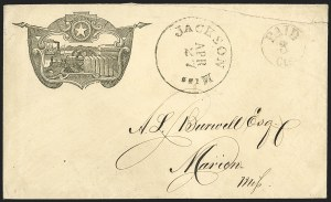 Sale Number 1186, Lot Number 537, Patriotics-Independent and Confederate State Use of U.S. StampsJackson Miss. Apr. 27 (1861), Jackson Miss. Apr. 27 (1861)