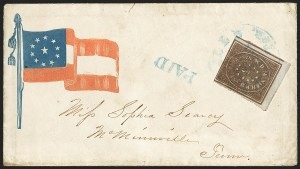 Sale Number 1186, Lot Number 551, Patriotics-Postmasters ProvisionalsNashville Tenn., 5c Violet Brown (61X5), Nashville Tenn., 5c Violet Brown (61X5)