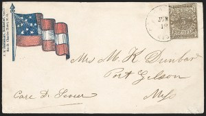 Sale Number 1186, Lot Number 555, Patriotics-Postmasters ProvisionalsNew Orleans La., 5c Brown on White (62X3), New Orleans La., 5c Brown on White (62X3)