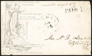 Sale Number 1186, Lot Number 558, Patriotics-Handstamped Paid and Due MarkingsMarshall Tex. Jul. 25 (1861), Marshall Tex. Jul. 25 (1861)
