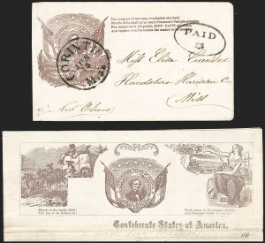Sale Number 1186, Lot Number 561, Patriotics-Handstamped Paid and Due MarkingsCorinth Miss. Jun. 15 (1861), Corinth Miss. Jun. 15 (1861)