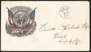 Sale Number 1186, Lot Number 563, Patriotics-Handstamped Paid and Due MarkingsRichmond Va. Jul. 29 (1861), Richmond Va. Jul. 29 (1861)