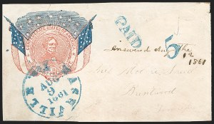 Sale Number 1186, Lot Number 564, Patriotics-Handstamped Paid and Due MarkingsNashville Ten. Aug. 9 (1861), Nashville Ten. Aug. 9 (1861)
